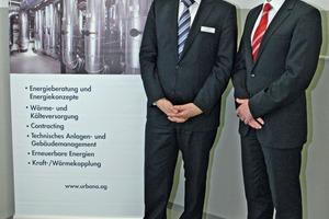 Urbana-Vorstand Harald Zimmermann (links) und Treffurts Bürgermeister Michael Reinz freuen sich über die jüngste Umstellung im Heizwerk<br />