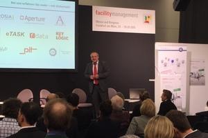 Ralf Stefan Golinski, Branchenverband CAFM Ring moderierte die Gesprächsrunde