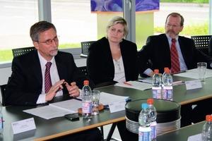 Chefredakteur Burkhard Fröhlich moderierte das Expertengespräch<br />