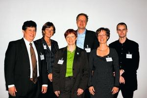 v.l.n.r.: Joseph P. Nilles (RTKL, Houston, USA), Drs Henny van Laarhoven (Orbis Medical and Carecenter, Sittard, NL), Anja Leetz (Health Care Without Harm), Wolfgang Sunder (TU Braunschweig), Rianne Scott-Verhoeff (Arcadis, Bodegraven, NL) und Claes Brylle Hallqvist (Bispebjerg Hospital, DK) <br />