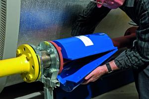 """Der """"Ecojet"""" wird vor dem Brenner auf die Zuleitung montiert und optimiert die Verbrennung"""
